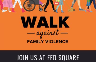 Walk Against Family Violence Poster